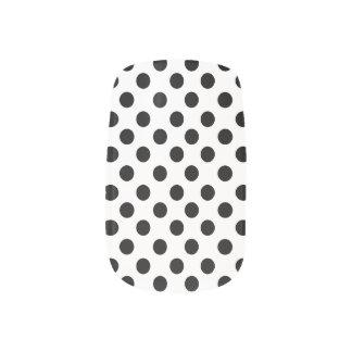 White With Black Polkadot Minx Nails Minx ® Nail Art