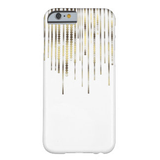 White with Gold Strands Coins Discs Luxury Sparkle Barely There iPhone 6 Case
