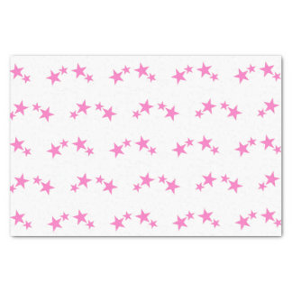 White with hot pink stars tissue paper