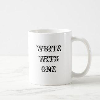 WHITE WITH ONE Coffee Mug