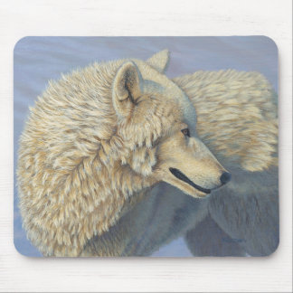 "White Wolf ""Arctic Gaze"" 3 - Mouse Pad"