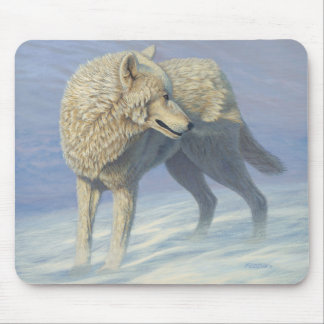 "White Wolf ""Arctic Gaze"" - Mouse Pad"