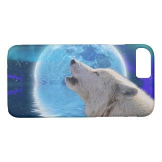 White Wolf & Arctic Moon Wolf-Lover Wildlife iPhone 7 Case