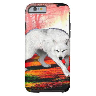 White wolf - arctic wolf - american wolf tough iPhone 6 case