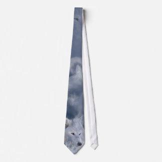 White Wolf Art Tie
