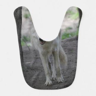 white wolf bibs