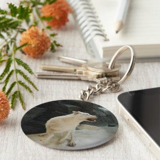 White Wolf Key Ring