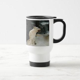 White Wolf Stainless Steel Travel Mug