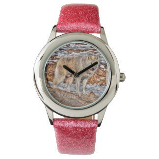 White Wolf Nature and Wildlife Design Wristwatches