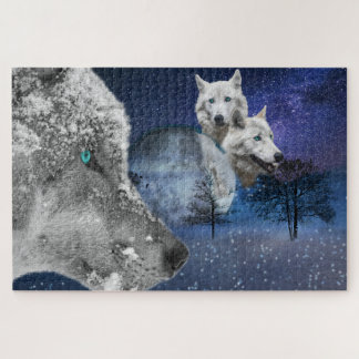 White  Wolf Picture Jigsaw Puzzle