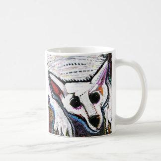 White Wolf (under the bed) Basic White Mug