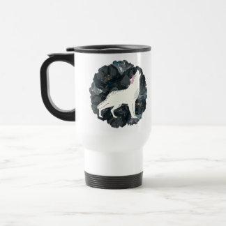 White Wolf with Black Roses Mug