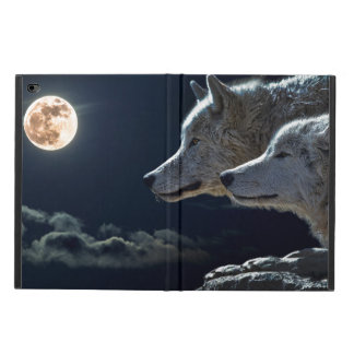 White Wolves in the Full Moon Powis iPad Air 2 Case
