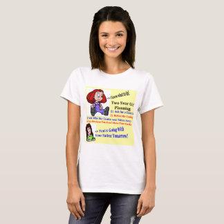 White Women's T-Shirt Kids Planning