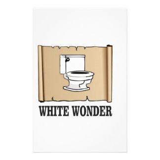 white wonder john personalised stationery