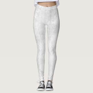 White Wood grain texture legging
