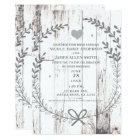 White Wood Rustic Farmhouse Country Wedding Invitation