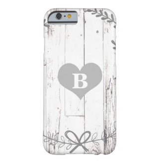 White Wood Rustic Farmhouse Shabby Chic Custom Barely There iPhone 6 Case
