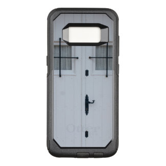 White Wooden Door With Black Wrought Iron Works OtterBox Commuter Samsung Galaxy S8 Case