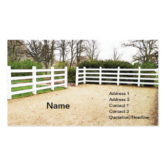 white wooden post and rail fence business cards