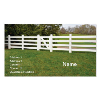 white wooden post fence and gate pack of standard business cards