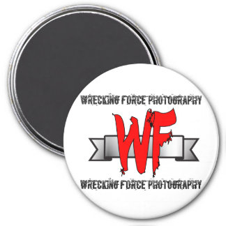 White Wrecking Force 3 Inch Magnet
