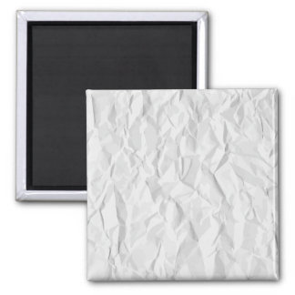 White wrinkled paper texture square magnet