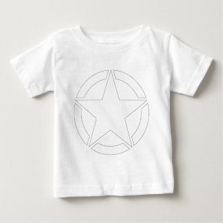 White WWII Jeep Star - Segmented Baby T-Shirt
