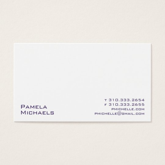 White XV Business Card