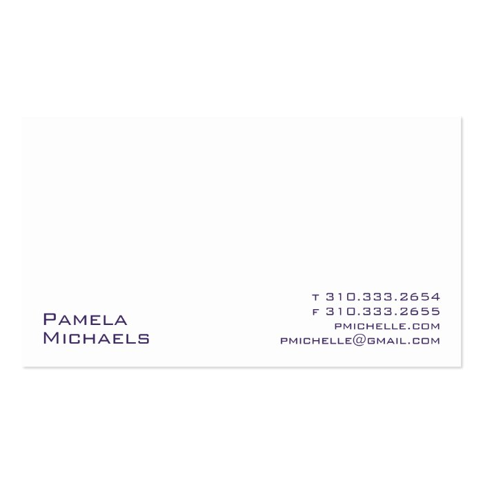 White XV Pack Of Standard Business Cards