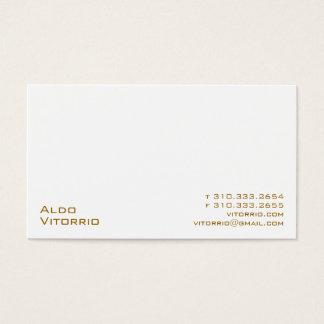 White XXV Business Card