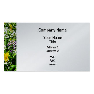 White, Yellow and Lavender Wildflowers - Platinum Pack Of Standard Business Cards