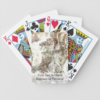 white yellow brown abstract rock poker deck