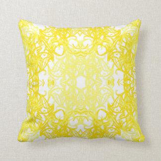 white yellow cushion