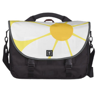 White & Yellow Daisy Flower Laptop Computer Bag