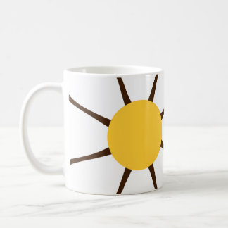 White & Yellow Daisy Flower on Brown Mug