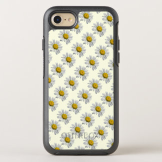 White Yellow Daisy Flowers Floral OtterBox Symmetry iPhone 7 Case
