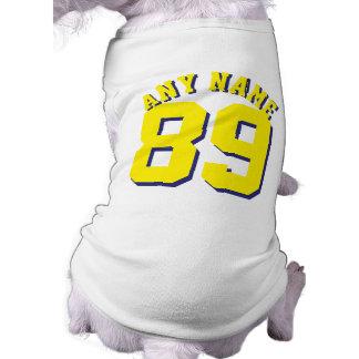 White & Yellow Pets | Dog Sports Jersey Design Sleeveless Dog Shirt