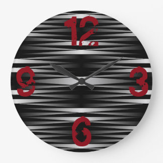 White Zebra Designed Clock