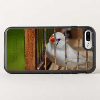White Zebra Finch in Cage OtterBox Symmetry iPhone 7 Plus Case