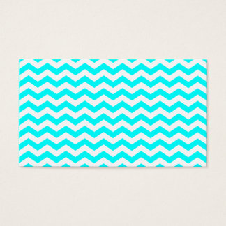 White Zig Zags Business Card