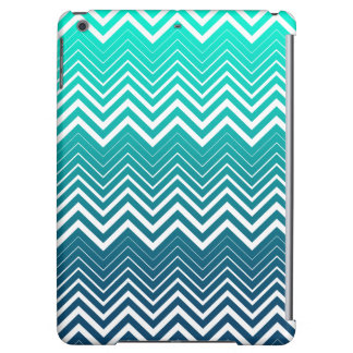 White Zigzag Chevron And Blue Green  Background