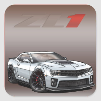 White_ZL1 Square Sticker