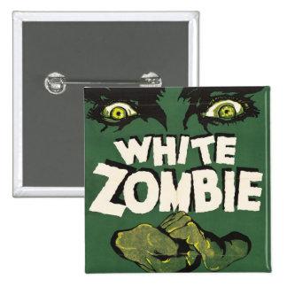 White Zombie Vintage Film Poster 15 Cm Square Badge