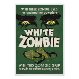 White Zombie Vintage Movie Poster print