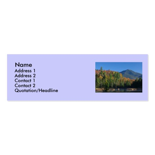 Whiteface Mountain over Little Cherrypatch Pond Business Card
