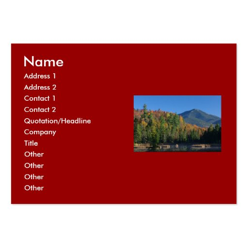 Whiteface Mountain over Little Cherrypatch Pond Business Cards