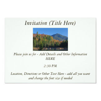 Whiteface Mountain over Little Cherrypatch Pond 13 Cm X 18 Cm Invitation Card