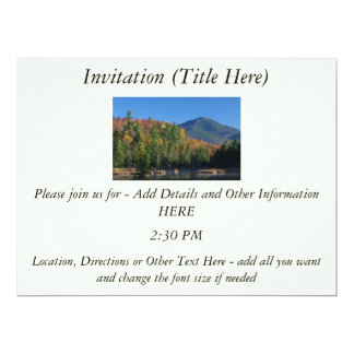 Whiteface Mountain over Little Cherrypatch Pond Personalized Invitations