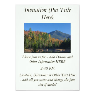 Whiteface Mountain over Little Cherrypatch Pond 17 Cm X 22 Cm Invitation Card
